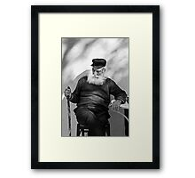 """The """"Thinker"""" of Apeiranthos Framed Print"""