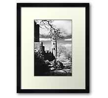 Blarney Castle, Ireland Black and White Framed Print