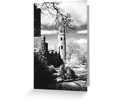 Blarney Castle, Ireland Black and White Greeting Card