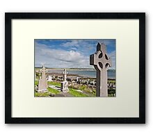 Burial Grave Site In Lahinch Liscannor County Clare Ireland Framed Print