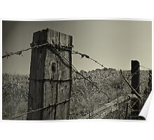 Worn Fence Poster