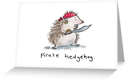 Pirate Hedgehog by Bethan Matthews