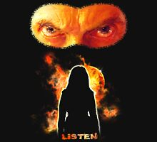 LISTEN Twelfth Doctor - Orange Womens Fitted T-Shirt
