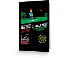 Lee Carvellos Putting Challenge Greeting Card