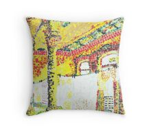 Washing On The Line Throw Pillow
