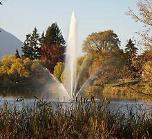 Water Fountain Salmon Arm B.C.  by Ravred