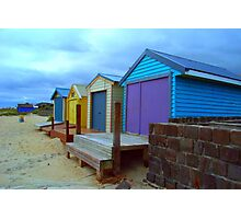 colorful beach houses Photographic Print