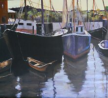 Boats at Gloucester Harbor  by Jsimone