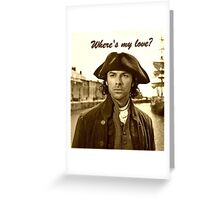 Ross Poldark in Cornwall Greeting Card