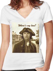 Ross Poldark in Cornwall Women's Fitted V-Neck T-Shirt