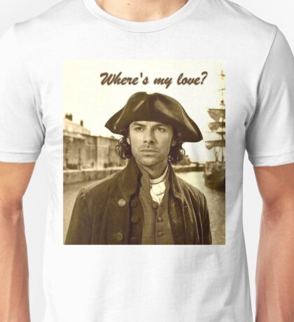 Ross Poldark in Cornwall Unisex T-Shirt