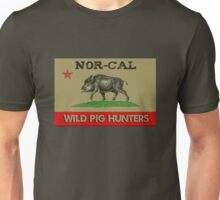 Nor Cal Wild Pig Hunters (Color Subdued) Unisex T-Shirt