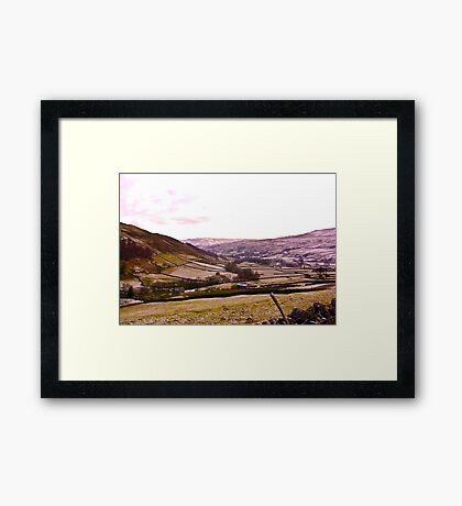 Looking Towards Muker - Yorkshire Dales Framed Print