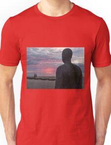 Sunset at Crosby beach Unisex T-Shirt