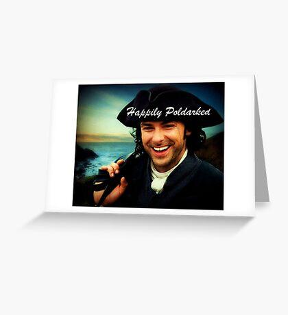 Ross Poldark in Cornwall Greeting Card