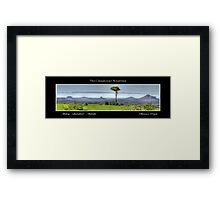 The Glasshouse Mountains Framed Print