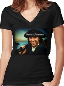 Ross Poldark in Cornwall Women's Fitted V-Neck T-Shirt
