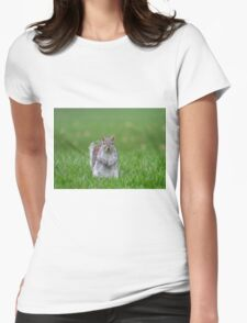 Cheeky grey squirrel Womens Fitted T-Shirt
