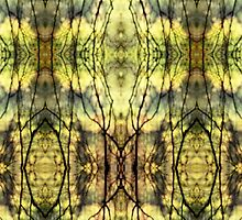 Abstract Yellow Trees by JonDelorme