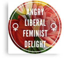 Angry Liberal Feminist Delight Canvas Print