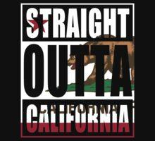 Straight Outta California Flag One Piece - Long Sleeve