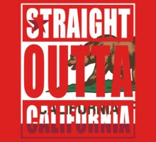 Straight Outta California Flag Kids Tee