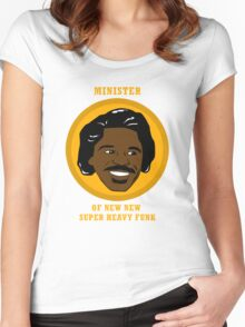 Minister Of New New Super Heavy Funk Women's Fitted Scoop T-Shirt
