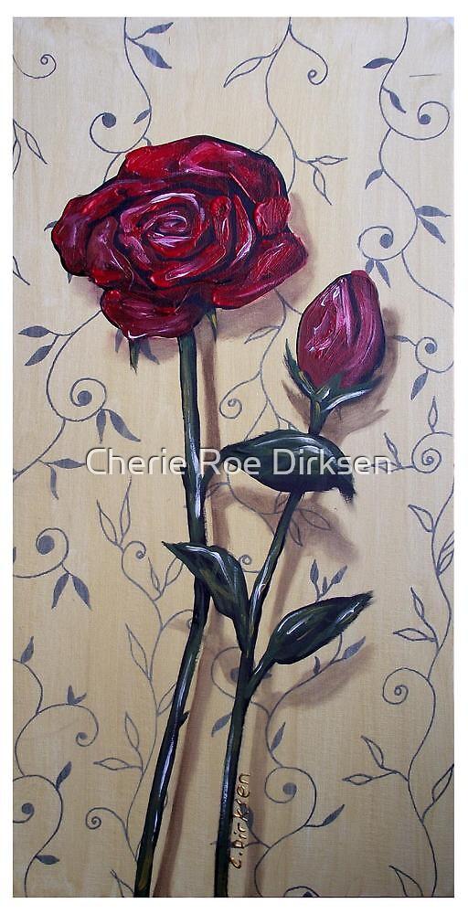 Long-stem Red Roses by Cherie Roe Dirksen