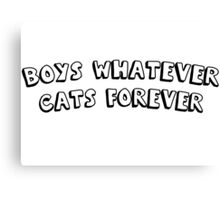 boys whatever cats forever Canvas Print