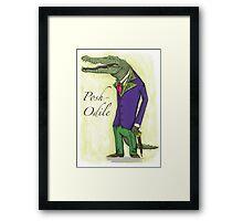 Posh-odile Framed Print