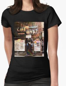 Cafe Wha, NYC, NY Womens Fitted T-Shirt