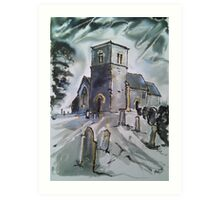 'St John the Baptist, Kirk Hammerton, York' Art Print