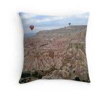 Cappadocia ballooning Throw Pillow