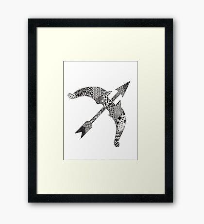 Zentangle Bow Framed Print