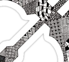 Zentangle Bow Sticker