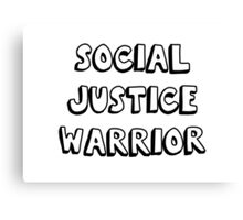 social justice warrior Canvas Print