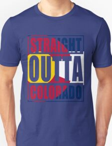Straight Outta Colorado Flag Unisex T-Shirt