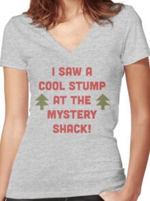 Cool Stump! Women's Fitted V-Neck T-Shirt