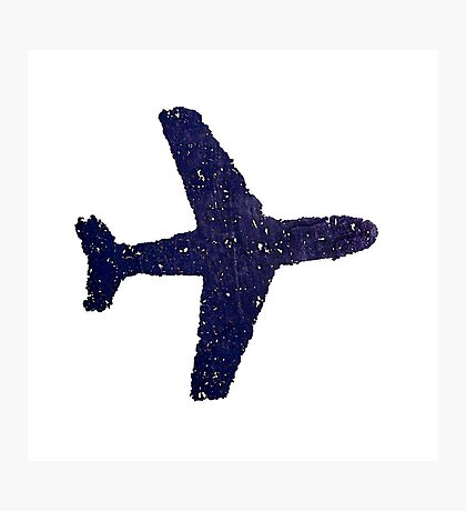 blue plane Photographic Print