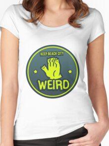 Keep Beach City Weird Women's Fitted Scoop T-Shirt