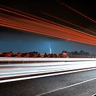 M4 Motorway Light Show by Andrew McNeil