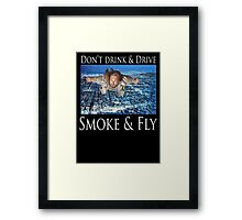 Smoke and Fly Framed Print