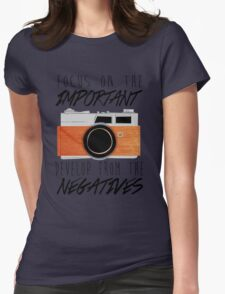 Life is Like a Camera Womens Fitted T-Shirt