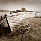 Holy Island vintage style by Kevin Allan