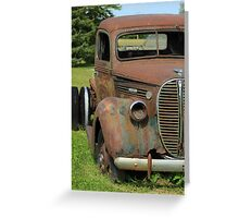 Rust Covered Antique Truck Greeting Card