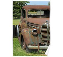 Rust Covered Antique Truck Poster