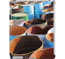 Discarded oil barrels iPad Case/Skin