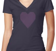 English Lavender  Women's Fitted V-Neck T-Shirt