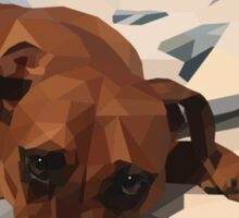 Rudy - Polygon Dog Sticker