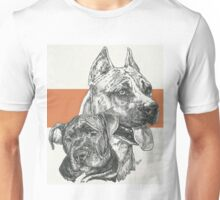 American Staffordshire Terrier, Father & Son Unisex T-Shirt